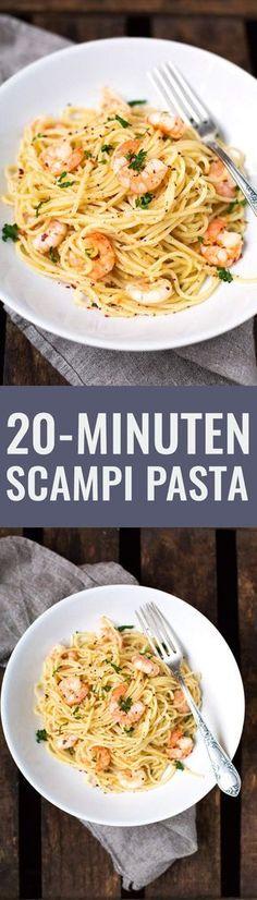 Die 20-Minuten Scampi Pasta sind super einfach und dekadent lecker. Perfekt! - Kochkarussell.com