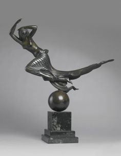 Paul Howard Manship 1885-1966. FLIGHT OF NIGHT - bronze, dark greenish-brown patina. inscribed Paul Manship - 1916. | © 2015 Sotheby's. Saw this in Washington DC today. The lines. The lines.