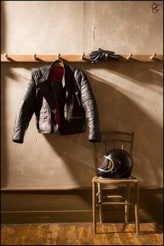 jacket, helmet and gloves #motorcycle #motorbike