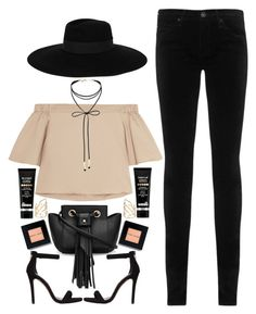 """""""MAISON MICHEL look"""" by imperiouspuma ❤ liked on Polyvore featuring TIBI, AG Adriano Goldschmied, Maison Michel, Miss Selfridge, Steve Madden, Bobbi Brown Cosmetics, Dr. Brandt and Alexis Bittar"""