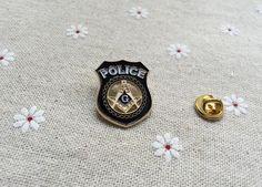 10pcs/lot wholesale Police badges masonic lapel pin factory produce customized freemason masonry brooches pins 2016