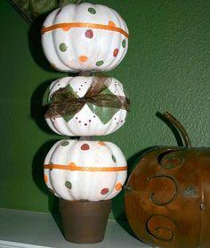 DIY Dollar Store Pumpkin Topiary DIY Fall Crafts DIY Halloween Decor