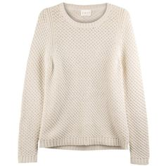 East Waffle Stitch Jumper ($35) ❤ liked on Polyvore featuring tops, sweaters, shirts, clearance, pearl, waffle knit sweater, pink top, waffle shirt, stitch sweater and pink collared shirt