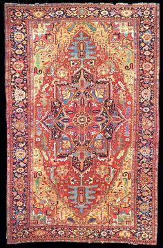 Museum Heriz Antique Oriental Rug Size: x Grey Carpet Hallway, Hallway Carpet Runners, Wall Carpet, Rugs On Carpet, Stair Runners, Stair Carpet, Buy Carpet, Persian Carpet, Persian Rug