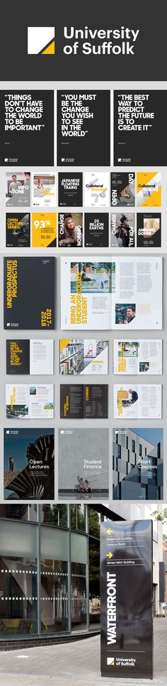 University of Suffolk branding