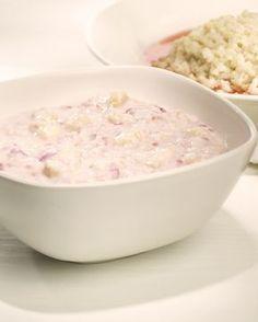 Herkkutuorepuuro Potato Salad, Breakfast Recipes, Oatmeal, Healthy Recipes, Healthy Food, Food And Drink, Ethnic Recipes, Koti, Drinks