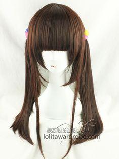 74da76bf165 60cm Dark Brown Lolita Straight Wig