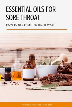 Discover how to use essential oils for sore throat.