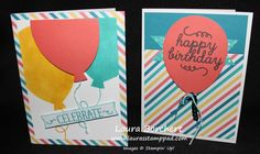 May Paper Pumpkin Fun!!! May 2015 Paper Pumpkin, Stampin' Up, Circle Punch, Bermuda Bay Sequins, Gift Bags, Cards, Balloons, Craft Kit www.LaurasStampPad.com