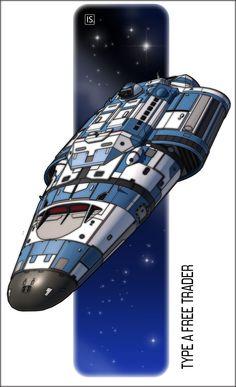 Free Trader 'Tripping the Light Fantastic' by biomass on DeviantArt Spaceship Design, Spaceship Concept, Concept Ships, Concept Art, Trip The Light Fantastic, Lights Fantastic, The Stars My Destination, Sci Fi Rpg, Sci Fi Spaceships