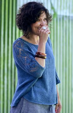 Perfect over summer dresses and skirts or teamed with jeans, Nuala is a light layer with effortless summer style that will quickly become your go-to in warm weather. Black White Pattern, Stockinette, Cardigan, Bitty Baby, Warm Weather, Knitwear, Summer Dresses, Knitting, Hair Styles