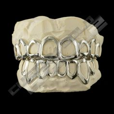 [CUSTOM-FIT] Solid .925 Sterling Silver Open Face Grillz