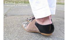 Emma Go derbies Casey snake/taupe/noir #emmago #derbies #taupe #casey #sandales #sandals #shoes #chaussures #cuir #leather #snake #serpent #black #noir #fashion #promo