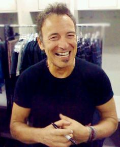 Bruce Springsteen - This smile always makes me feel like the world has to be an OK place.  (thesamiposts)