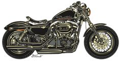 Copyright David Vicente © 2012 - All rights reserved Motorcycle Art, Bike Art, Harley Davidson, New Harley, Cars And Motorcycles, Concept Art, Artwork, Behance, Illustrations