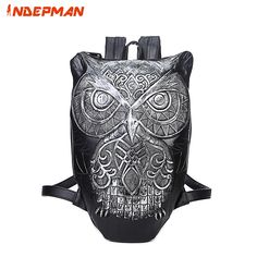 39.36$  Buy here - Kanken 2017 New Fashion 3D Print Owl Leather Backpack Men for Travel Waterproof School Bag for Teenage Girls and Boys   #aliexpress