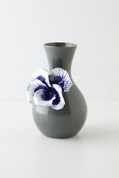 Pretty Pansy Vase, Tall #anthropologie--Jazz up a thrift store vase with cute embellishment.