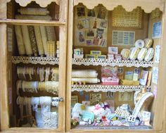 Miniature Haberdashery Shop Window