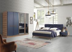Aura (mavi) Yatak Odası