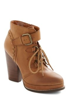 Shenanigans Boot by Seychelles - Tan, Solid, Safari, High, Lace Up, Chunky heel, Casual, Leather, Platform