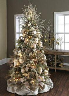 Árbol de Navidad color plata