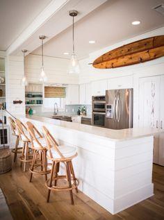white beachy kitchen