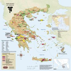 Greece wine map - Google 搜索
