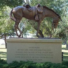 Loyal Steeds: Horses in the Civil War memorial