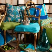 These Green and Turquoise accent pillows are Available @ Sofa Outlet