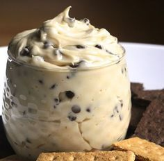 Creamy Chocolate Chip Cheesecake Dip Recipe Desserts, Appetizers with butter… Chip Dip Recipes, Snack Recipes, Dessert Recipes, Cooking Recipes, Snacks, Dessert Dips, Chocolate Chip Cheesecake Dip Recipe, Chocolate Chip Cookie Dough, Chocolate Chips