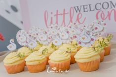 The cupcakes at this swan princess themed baby shower are so cute! Love the toppers! See more party ideas and share yours at CatchMyParty.com  #catchmyparty #partyideas #swanprincessbabyshower #girlbabyshower #swanparty #princessbabyshower