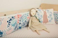 Bedding + Jess Brown dolls #modernnursery #summerinthecity
