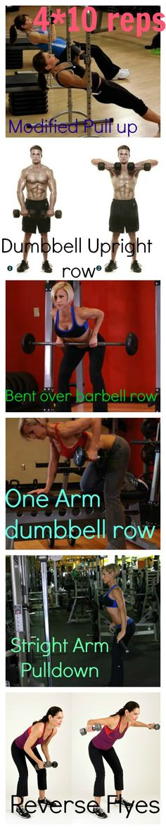Back Exercises - 4 X 10