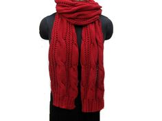 Knitted scarf/knit scarf/ scarf/ muffler/ unisex scarf/ long