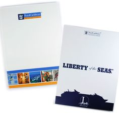 A clean and generic design for two RCCL folders, as both had to be used for a variety of promotional purposes.