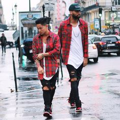 Blood on Tha Street With My Twin @jaii_c By @champaris75  #champaris