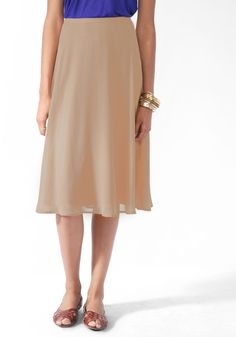 #Forever21                #Skirt                    #Solid #Midi-Length #Skirt                          Solid Midi-Length Skirt                             http://www.seapai.com/product.aspx?PID=97020