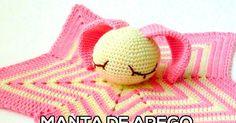 Cómo tejer una manta de apego con base de estrella de 5 puntos con ganchillo para bebe