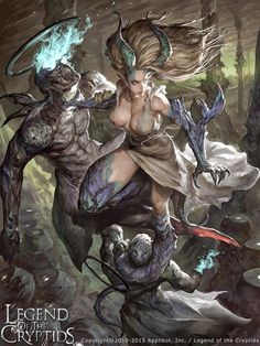 Artist: Lee Chak Khuen aka Puppeteer Lee - Title: amalia - Card: Sandra, Deformed Angel (Blighted)