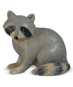 Raccoon Figurine by Grasslands Road Quiet Critters, Garden Animal Statues, Garden Sculpture, Lion Sculpture, Wildlife Decor, Outdoor Settings, Gnomes, Dinosaur Stuffed Animal, Cute