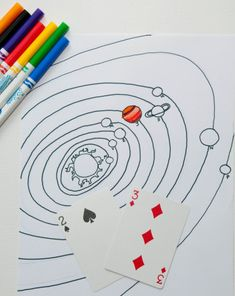 Tour the Planets; except the first to color in all their planets wins--sometimes you won't be able to make a new number.