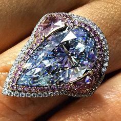 Bluediamond #pinkdiamond #beverlyhills #finejewelry