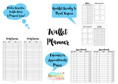 Free Printables: Wallet Planners for Midori Traveler's Notebooks + Peek into my Chic Sparrow Wallet at Wendaful Designs