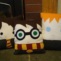 Wizard pillow, Hermione Granger, Ron Weasley,Luna Lovegood, Draco Malfoy, plush, Decorative Pillow