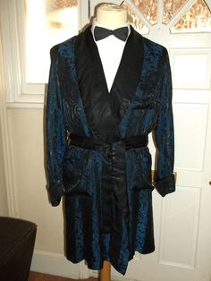Vintage Mens 1960s Tootal Dicel Smoking Jacket Dressing Gown Robe M in Clothes, Shoes & Accessories, Vintage Clothing & Accessories, Men's Vintage Clothing | eBay