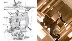 Storyboard de Inception (2010), de Christopher Nolan