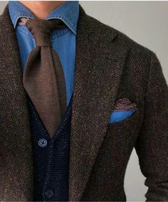 Blazer Fashion, Suit Fashion, Mens Fashion, Sharp Dressed Man, Well Dressed Men, Tweed Suits, Mens Suits, Elegant Man, Gentleman Style