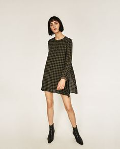 CHECK JUMPSUIT DRESS WITH STUDS-DRESSES-WOMAN | ZARA United States