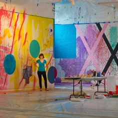 Artist Sarah Cain spent a week painting the entire Contemporary Art museum n Raleigh, North Caroline. See the results on wmag.com.