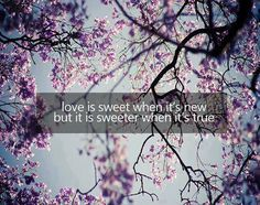 Love is sweet..
